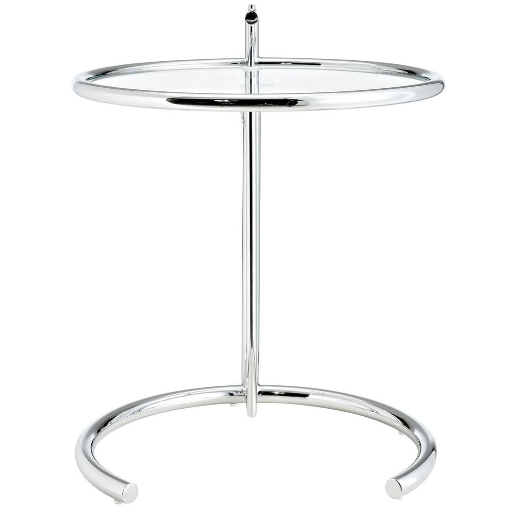Modway Eileen Gray Side Table In Silver