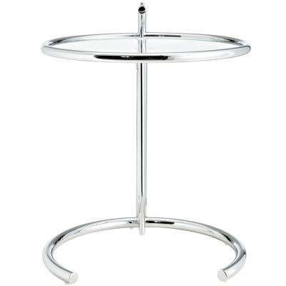 Eileen Gray Side Table in Silver