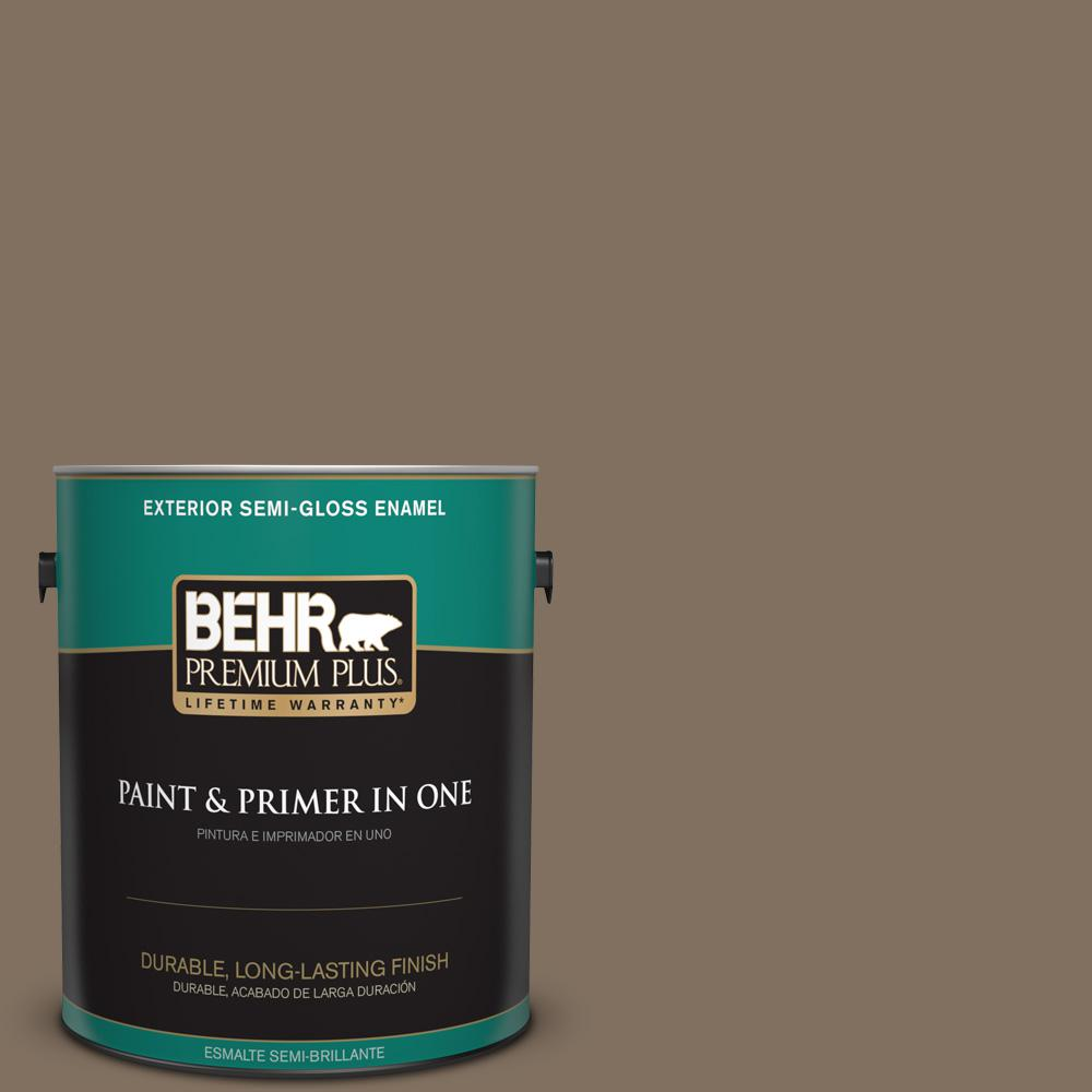 1 gal. #PPU5-04 Mocha Latte Semi-Gloss Enamel Exterior Paint