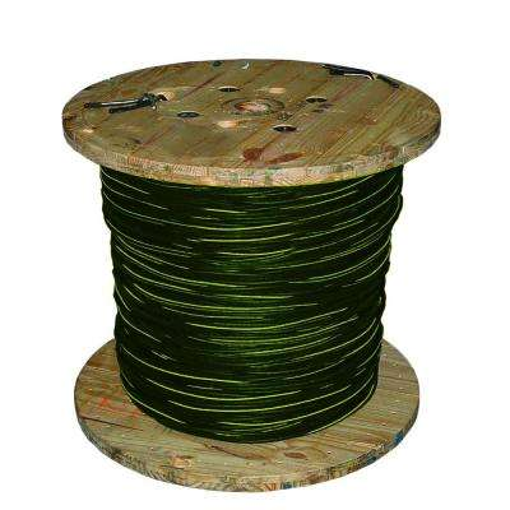 1000 ft. 1/0 3C Black Stranded AL Quad URD Notre Dame Cable