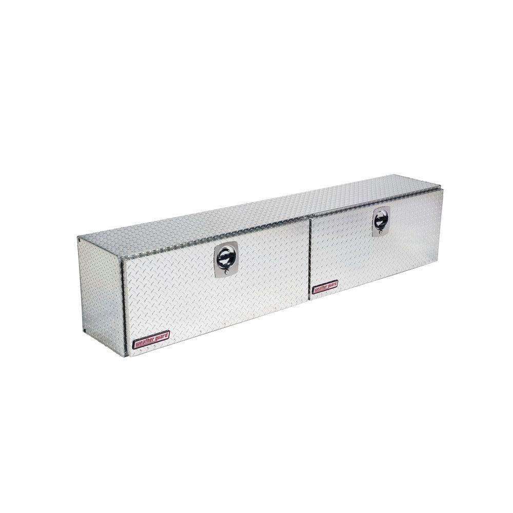 Weather Guard 90.25 Diamond Plate Aluminum Full Size Top Mount Truck Tool Box