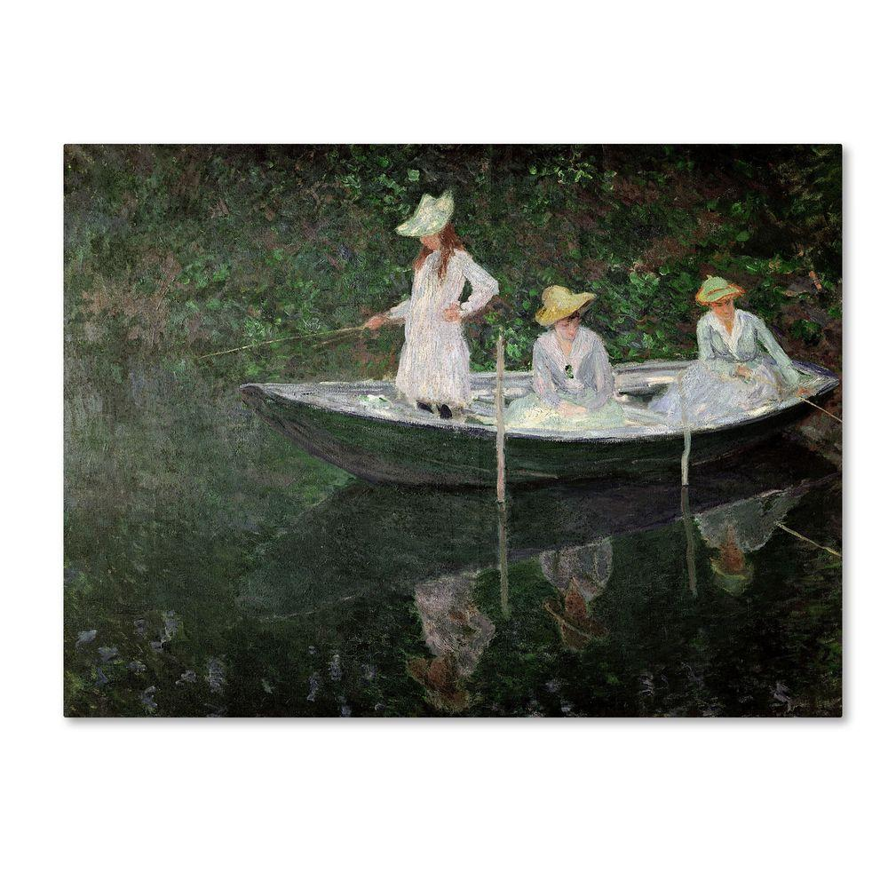 24 in. x 32 in. The Boat at Giverny Canvas Art