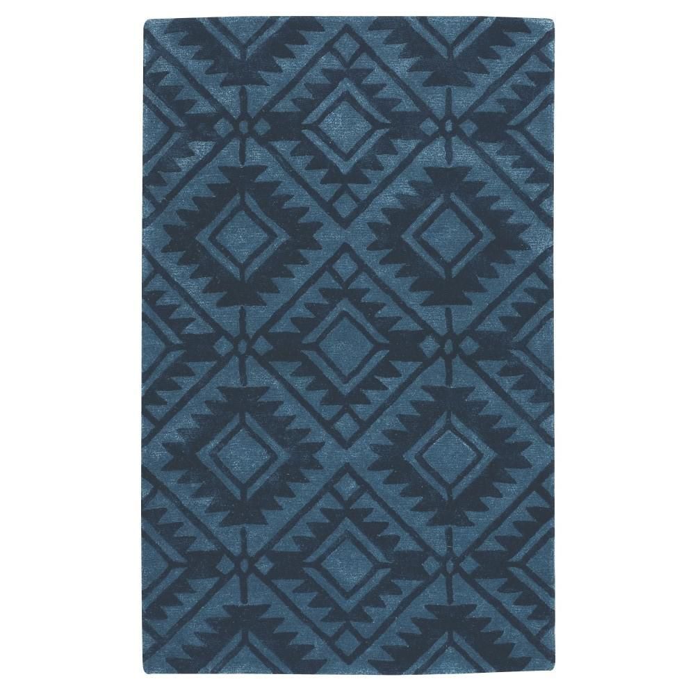 Home decorators collection nomad denim blue 5 ft x 8 ft for Home decorators rugs blue