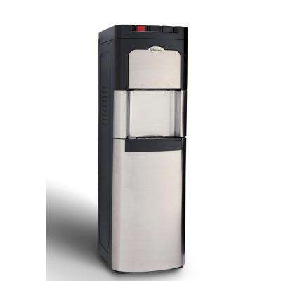 Bottom Loading Commercial Water Cooler with Ice Chilled and Steaming Hot Water in Stainless Steel
