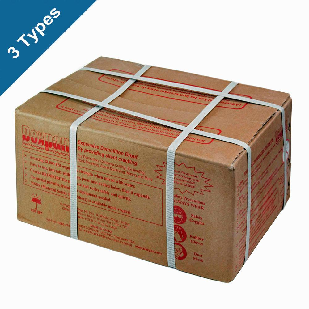 Dexpan 44 lb  Box Type 3 (23F-50F) Expansive Demolition Grout for Concrete  Rock Breaking and Removal