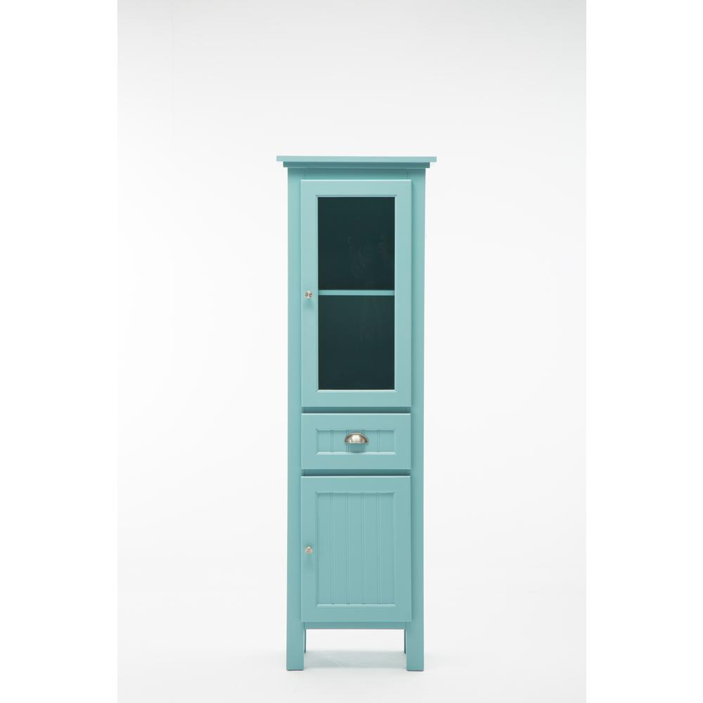 Home Decorators Collection Ridgemore Assembled 20 in. x 65 in. x 14 in. Bathroom Bar Linen Storage Cabinet in Sea Glass