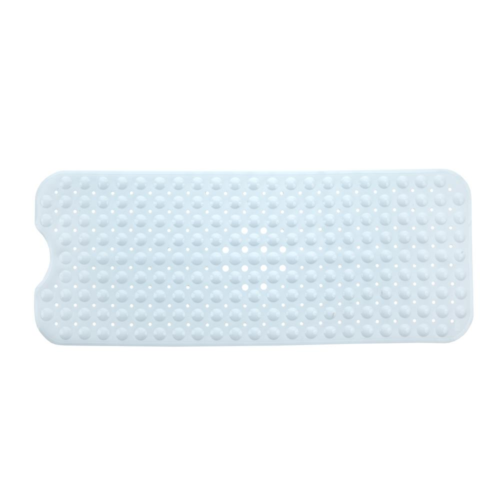 SlipX Solutions 16 in. x 39 in. Extra Long Bath Mat in White