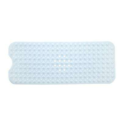 16 in. x 39 in. Extra Long Bath Mat in White