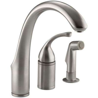 Forte Single-Handle Standard Kitchen Faucet with Side Sprayer in Vibrant Stainless