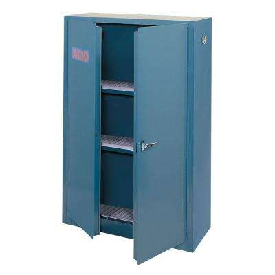65 in. H x 43 in. W x 18 in. D Freestanding Steel Acid Safety Cabinet in Blue