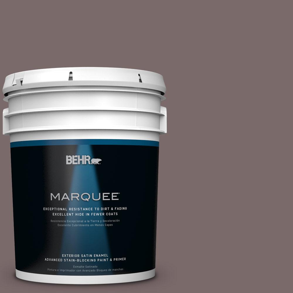 BEHR MARQUEE 5-gal. #HDC-NT-26 Muscatel Satin Enamel Exterior Paint