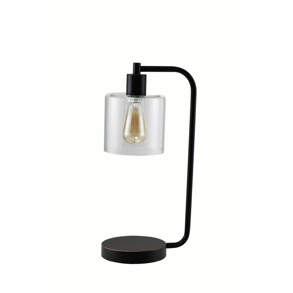 Major Q Industrial 21 In Black Antique Indoor Table Lamp With