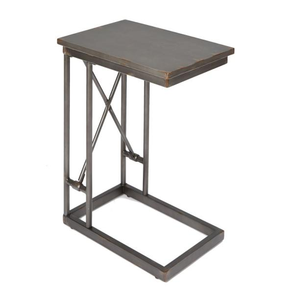 Silverwood Furniture Reimagined Oxford Black C Shape End Table CPFT1337