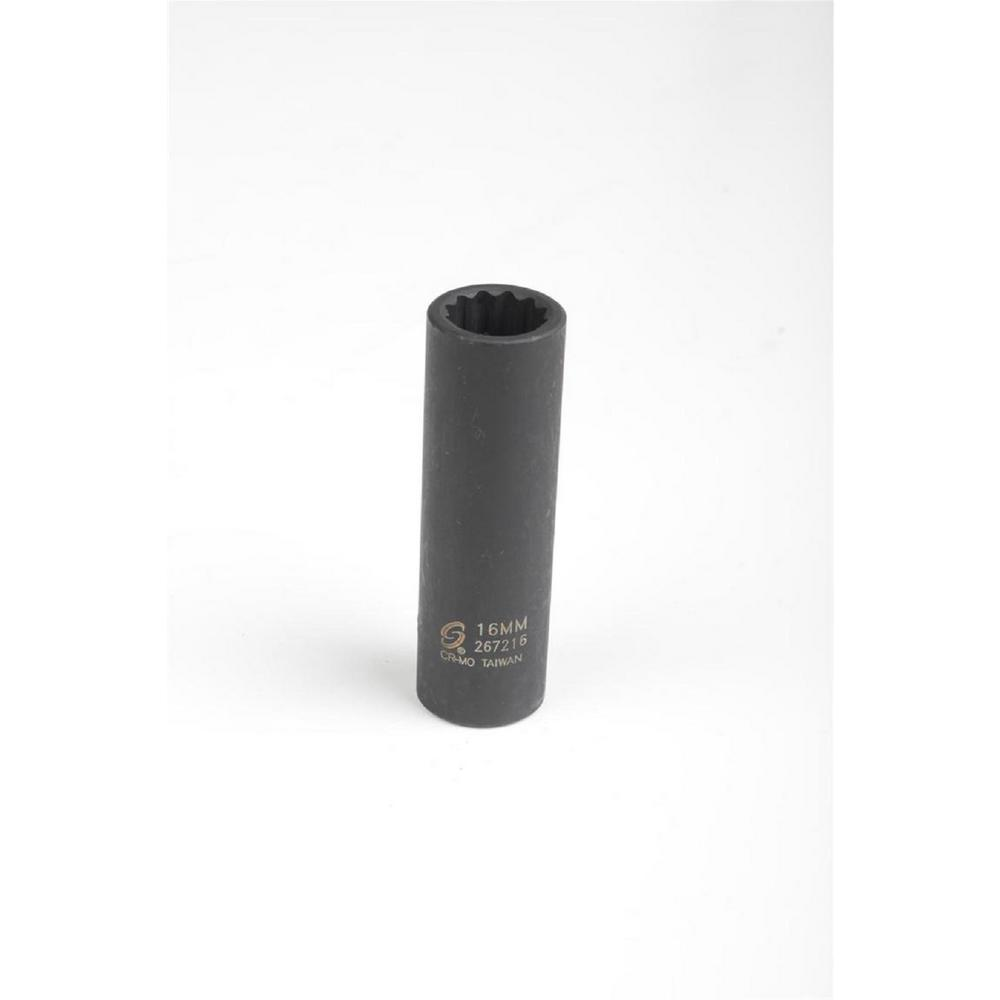 16 mm 1/2 in. Drive 12-Point Impact Socket