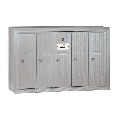 3500 Series Aluminum Surface-Mounted Private Vertical Mailbox with 5 Doors