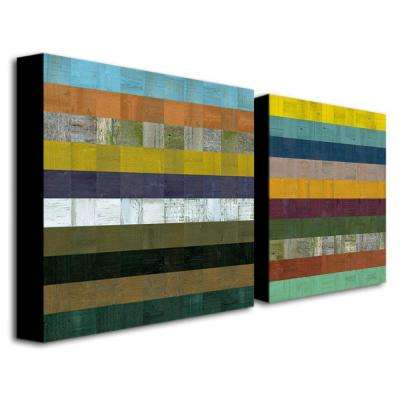 Wooden Abstract VII by Michelle Calkins 2-Panel Wall Art Set