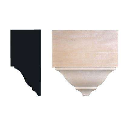 5-3/4 in. x 2-3/4 in. x 5-1/2 in. Hardwood Mid Crown Moulding