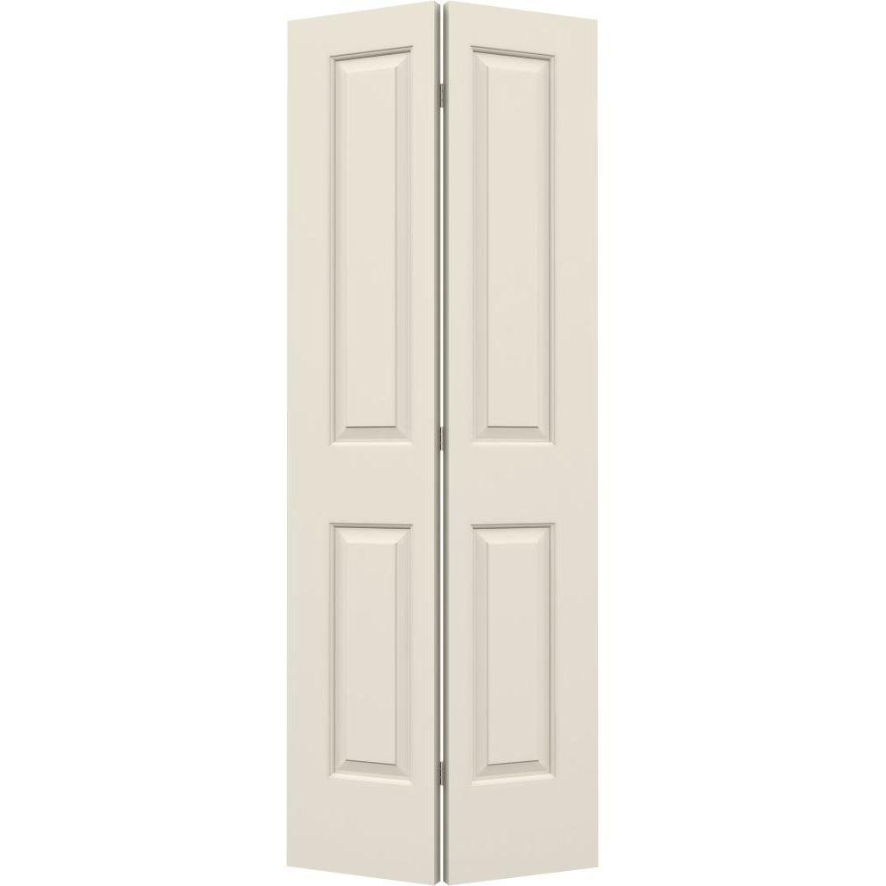 JELD-WEN 32 in. x 80 in. Cambridge Primed Smooth Molded Composite MDF Closet Bi-Fold Door -  749660
