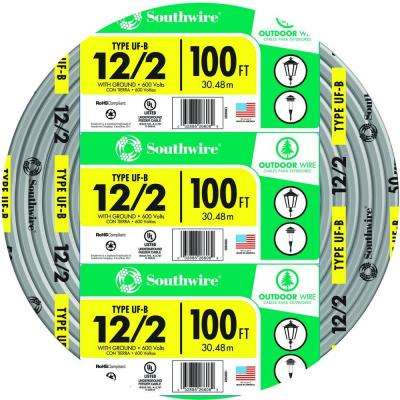 100 ft. 12/2 Gray Solid CU UF-B W/G Wire