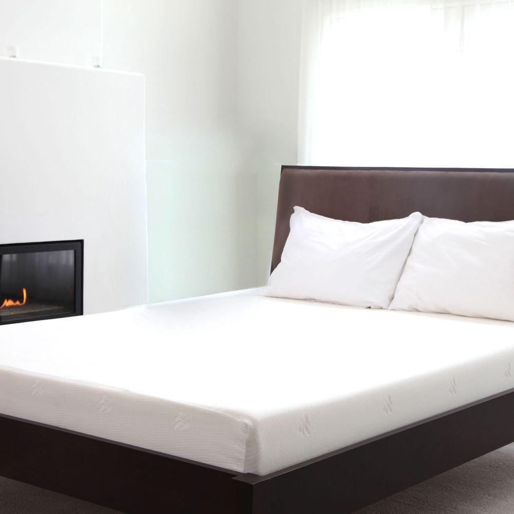 natural pedic queen size 8 in memory foam mattress