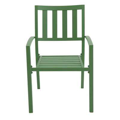 Mix and Match Fern Metal Slat Outdoor Dining Chair (2-Pack)
