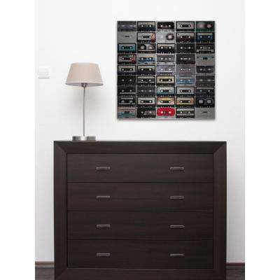 """48 in. H x 48 in. W """"Cassette Rows"""" by Marmont Hill Printed Brushed Aluminum Wall Art"""