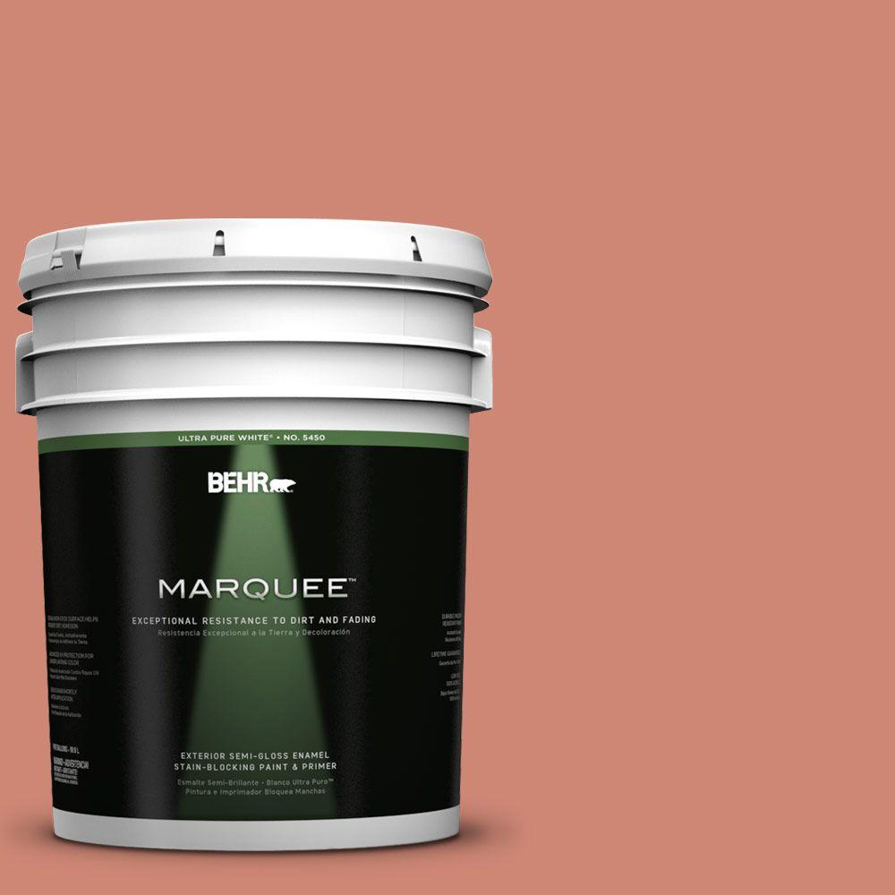 BEHR MARQUEE 5-gal. #210D-5 Copperleaf Semi-Gloss Enamel Exterior Paint