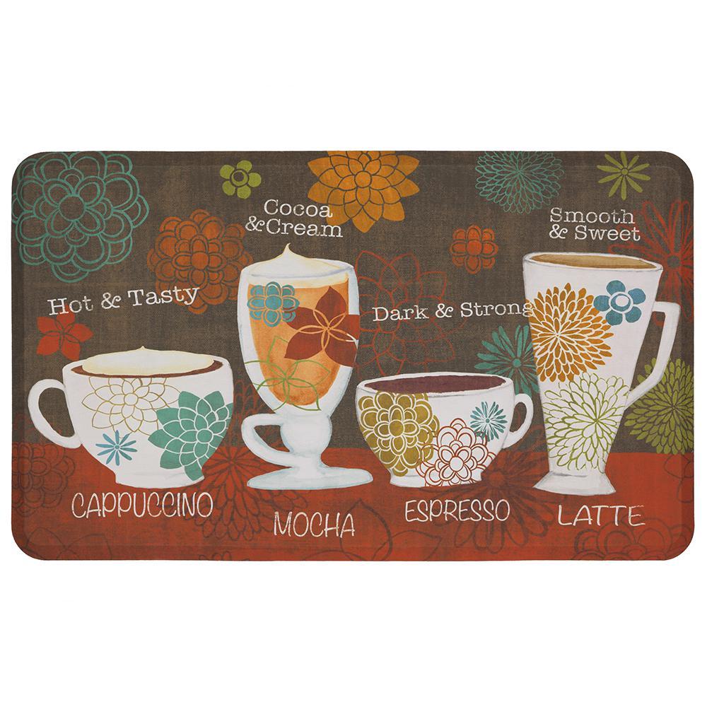 Tasty Coffee Words 18 in. x 30 in. Kitchen Mat