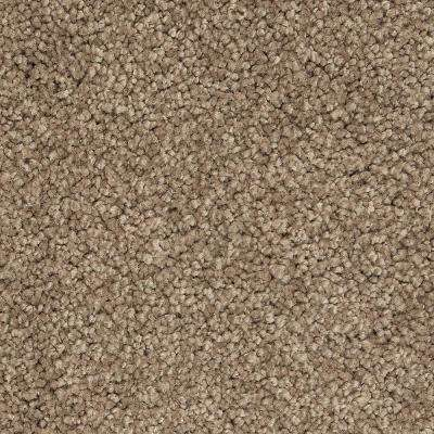 Carpet Sample - Castle I - Color Hickory Textured 8 in. x 8 in.