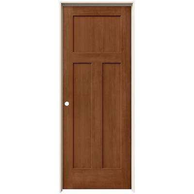 24 in. x 80 in. Craftsman Hazelnut Stain Right-Hand Solid Core Molded Composite MDF Single Prehung Interior Door