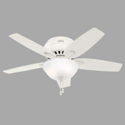 Newsome 42 in. Indoor Low Profile Fresh White Ceiling Fan with Light Kit