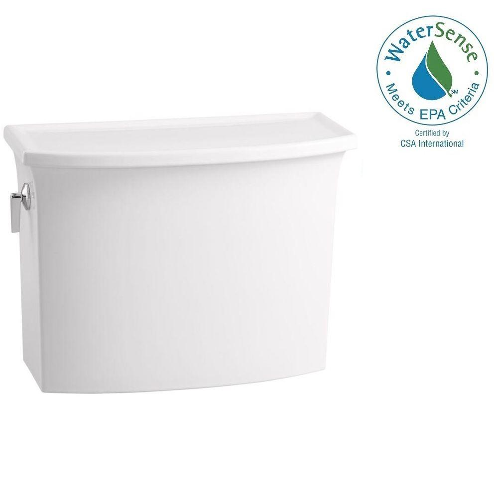 KOHLER Archer 1.28 GPF Single Flush Toilet Tank Only with AquaPiston Flushing Technology in White