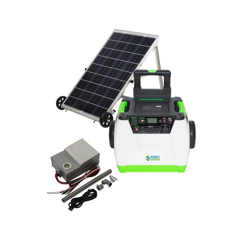 NATURE'S GENERATOR 1800-Watt Solar Powered Electric Start Portable Generator with Power Transfer Kit