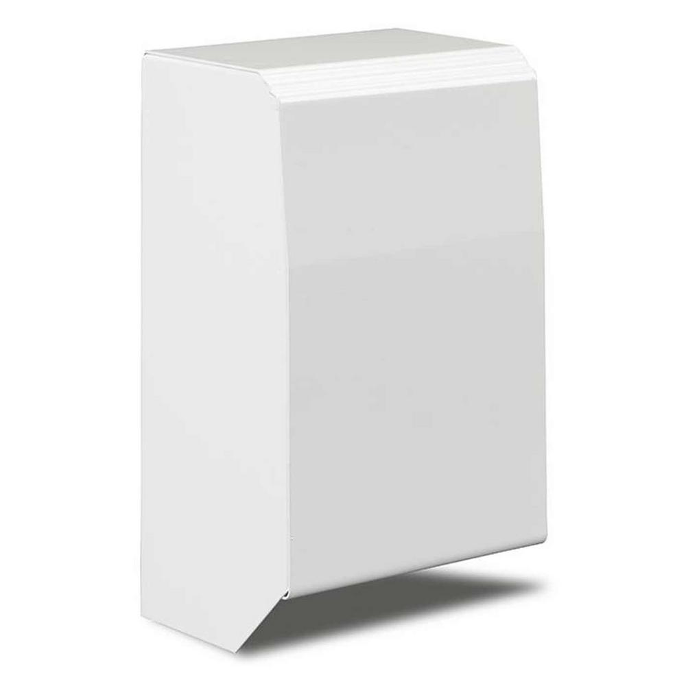 Revital/Line Series 4 in. Left End Cap Water Hydronic Baseboard Cover