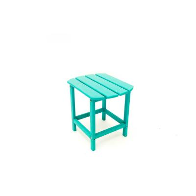 Corona 18 in. Aruba Blue Recycled Plastic Outdoor Side Table