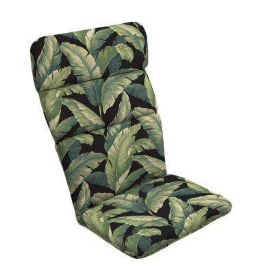 20 in. x 17 in. Onyx Cebu Outdoor Adirondack Chair Cushion
