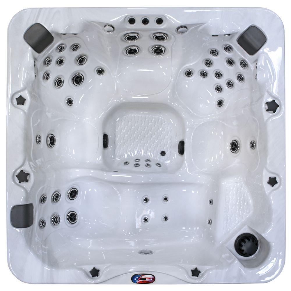7-Person 56-Jet Premium Acrylic Lounger Spa Hot Tub with Bluetooth Stereo