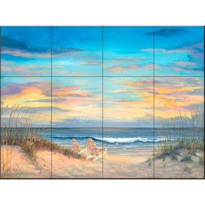Front Row Seats 17 in. x 12-3/4 in. Ceramic Mural Wall Tile
