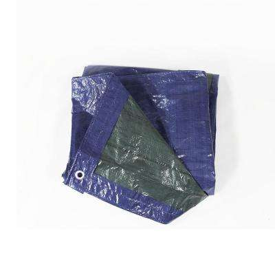 12 ft. x 16 ft. Blue and Green Waterproof Multi Purpose Poly Tarp
