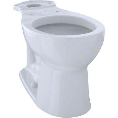 Entrada Round Toilet Bowl Only in Cotton White