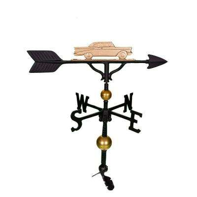 32 in. Deluxe Gold Classic Car Weathervane