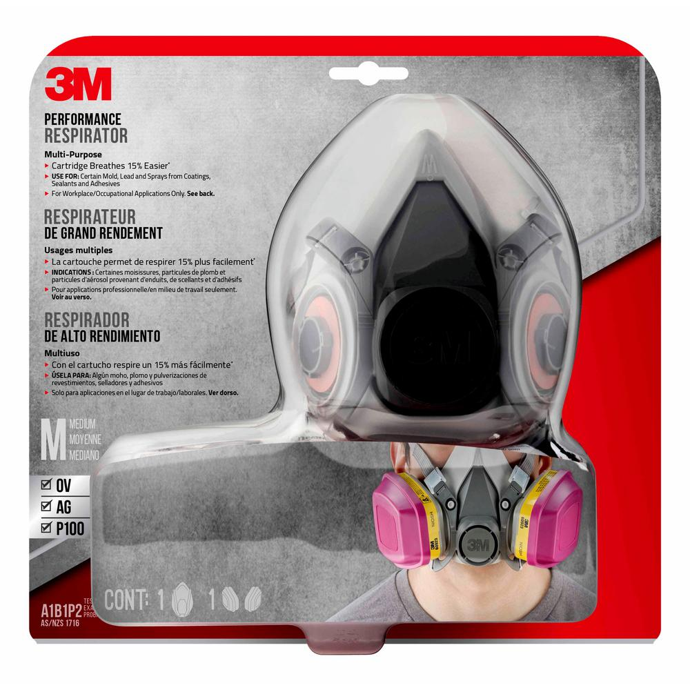3m Professional Multi Purpose Respirator Black Drop Down