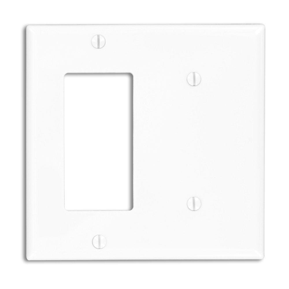 2-Gang Standard Size 1 No Device Blank 1-Decora Nylon Wall Plate,