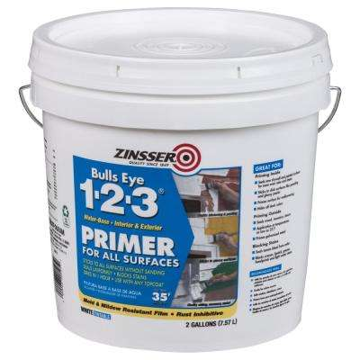 Bulls Eye 1-2-3 2 Gal. White Water-Based Interior/Exterior Primer and Sealer