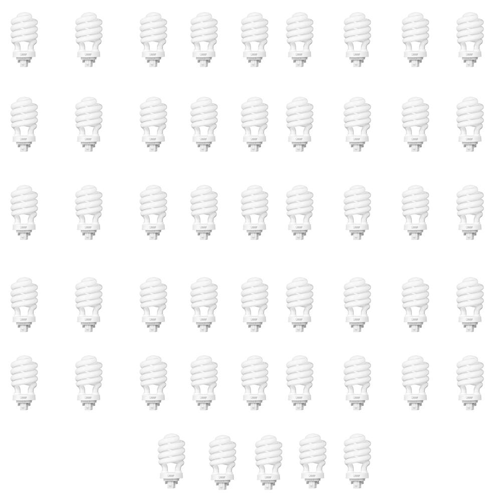 100W Equivalent Soft White (2700K) Spiral 4-Pin CFL Light Bulb (50-Pack)