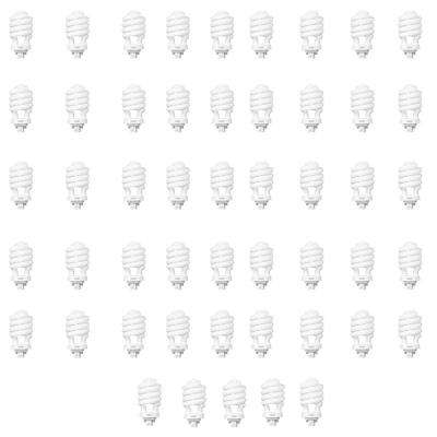 100-Watt Equivalent Soft White Spiral 4-Pin CFL Light Bulb (50-Pack)