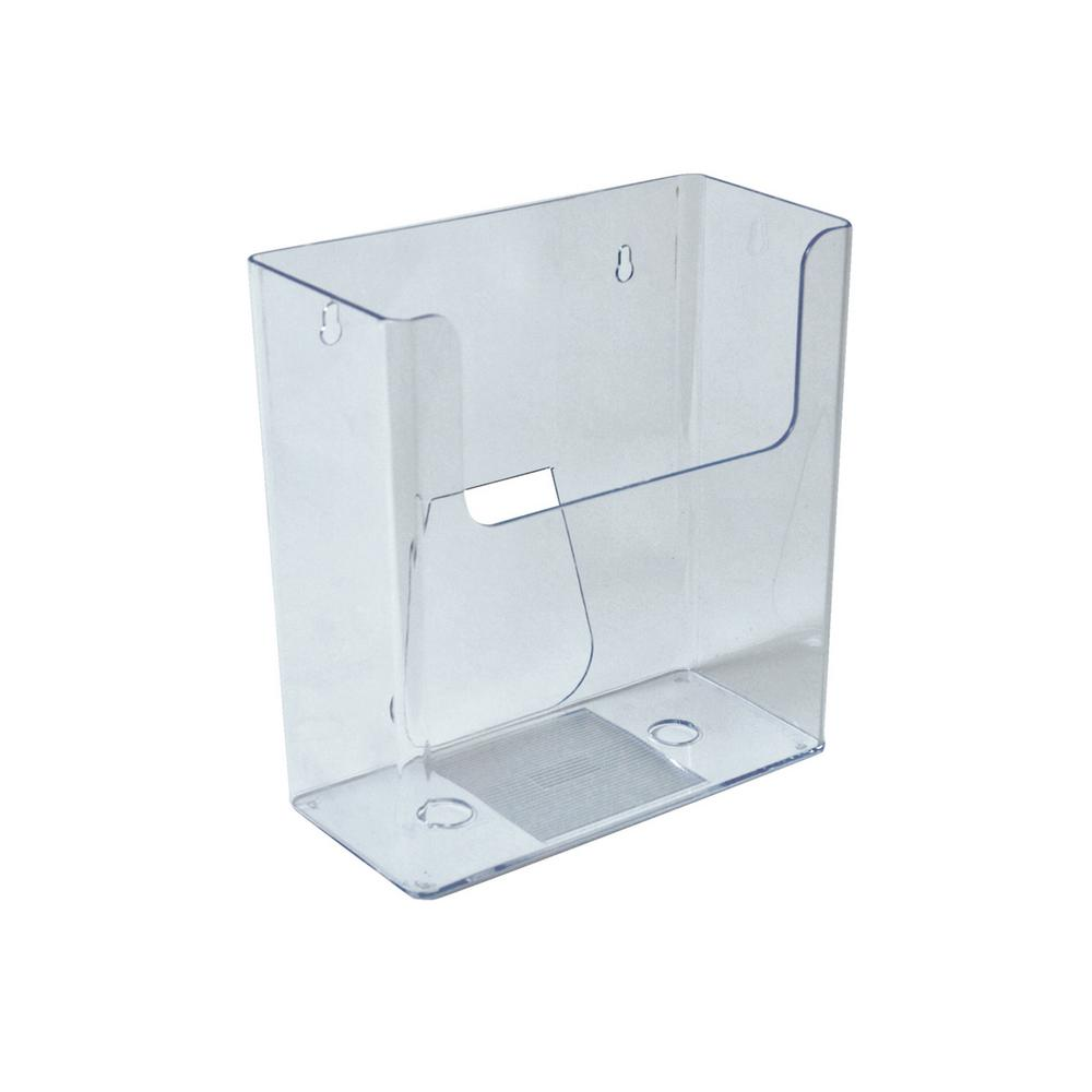 Azar Displays Acrylic Desktop Or Wall Mount Deep File Holder Clear 4 Pack 252415 The Home Depot