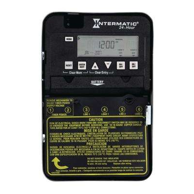 30 Amp 24-Hour 2xSPST 2-Circuit Electronic Time Switch