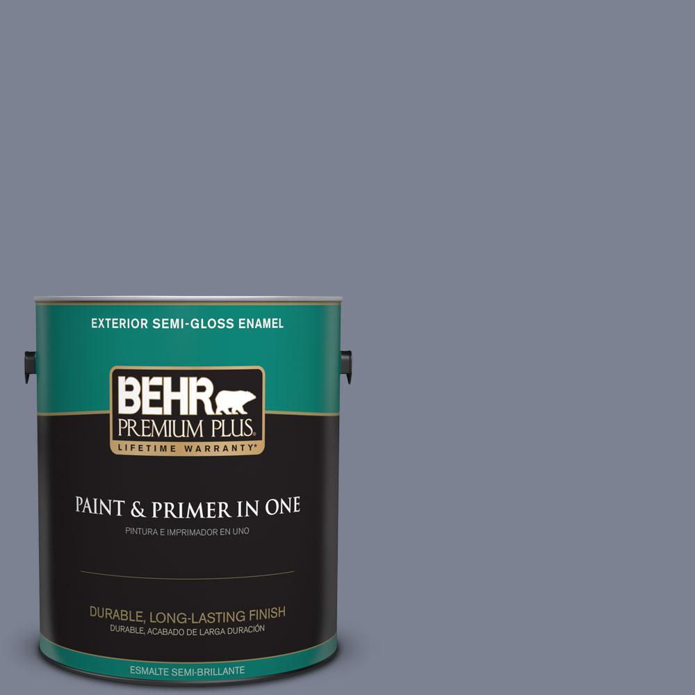 1-gal. #610F-6 Deep Smoke Signal Semi-Gloss Enamel Exterior Paint