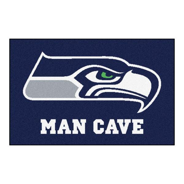 NFL Seattle Seahawks Blue Man Cave 2 ft. x 3 ft. Area Rug